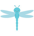 cute cartoon dragonfly is flying picture vector image
