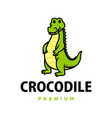 cute crocodile cartoon logo icon vector image vector image