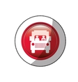 dotted sticker with road sign of bus crossing vector image vector image
