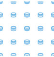 drum icon pattern seamless white background vector image vector image