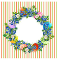 Easter Decorative Wreath vector image vector image