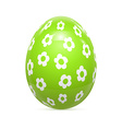 Easter Egg witnh Pattern Isolated on White vector image