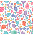 easter seamless pattern colored eggs vector image vector image