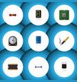 flat icon electronics set of repair receiver