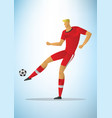 football player 19 vector image vector image