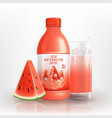 fresh iced watermelon juice vector image