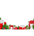 Gift Border vector image vector image