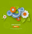indian republic day holiday design vector image vector image