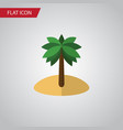 isolated palm flat icon coconut element vector image