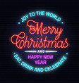 joy to the world merry christmas and happy new vector image vector image