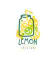 lemon original design logo natural product badge vector image vector image