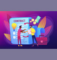 licensing contract concept vector image vector image