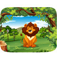 lion on the nature scene vector image vector image