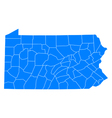 Map of Pennsylvania vector image vector image