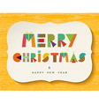 Merry Christmas Happy new Year fun color design vector image vector image