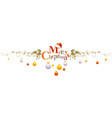 merry christmas holiday horizontal banner vector image