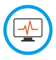 Monitoring Rounded Icon vector image vector image