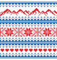 mountains knitwaer seamless pattern vector image