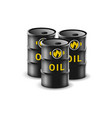 oil barrel isolated on white background canister vector image