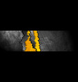 Orange black abstract grunge banner with broken