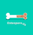 osteoporosis bone structure in design vector image vector image