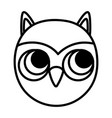 owl face bird animal icon line image vector image