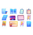 paper document and management strategy vector image