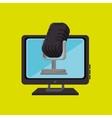 pc screen microphone speaker vector image