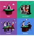 People In Casino Set vector image