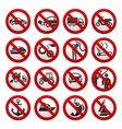Prohibited symbols vector image vector image