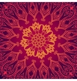 purple abstract pattern with lace floral ornament vector image