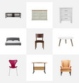 realistic cupboard commode furniture and other vector image