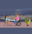 romantic relationships of disabled people vector image vector image