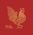 rooster line vector image vector image