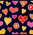 seamless hearts pattern-13 vector image vector image