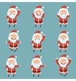 set santa claus flat icons vector image
