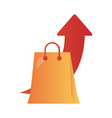 shopping bag with arrow up infographic degradient vector image vector image