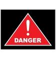 Sign showing danger eps10 vector image