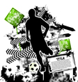 soccer grunge vector image vector image