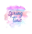 Spring time lettering phrase Abstract hand vector image