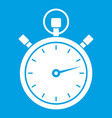 stopwatch icon white vector image vector image