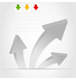 three grey arrows vector image vector image