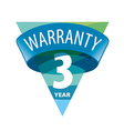 triangular logo 3 year warranty vector image vector image