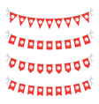 tunisian bunting vector image vector image