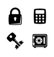 types locks and keys simple related icons vector image