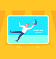 waiter falling with tray wine glasses elegant man vector image