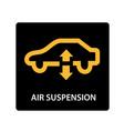 warning dashboard car icon air suspension vector image vector image