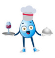 water drop cooking meal on white background vector image
