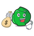 with money bag brussels character cartoon style vector image vector image