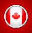 Canadian circular badge vector image